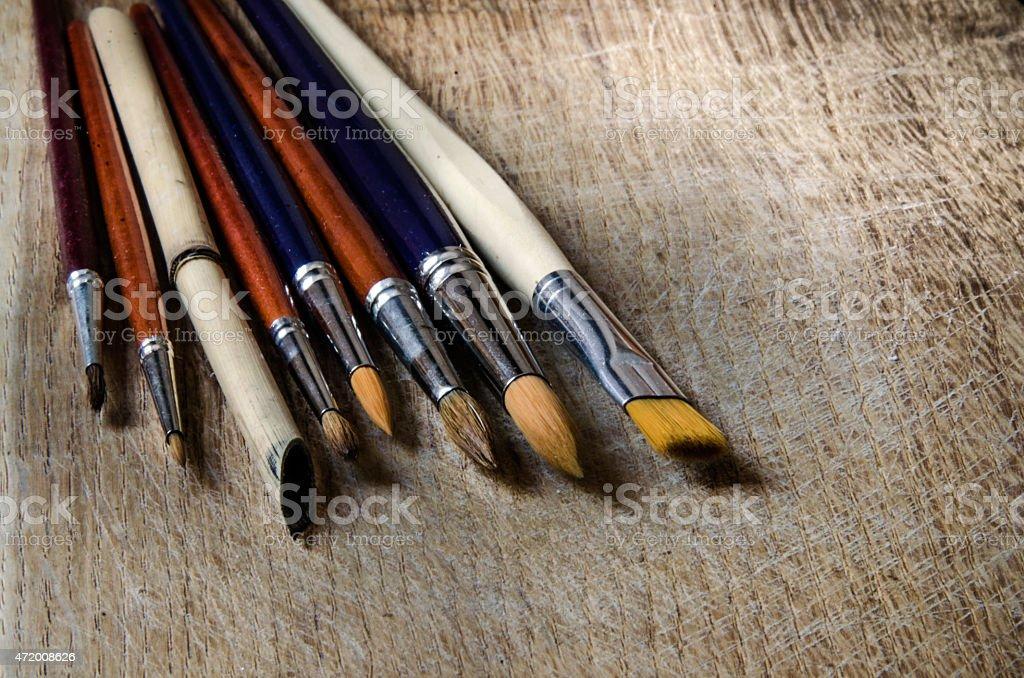 Art Watercolor Brushes stock photo