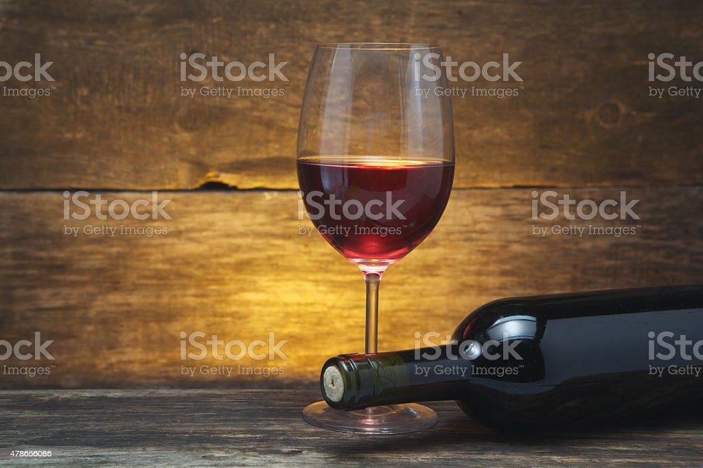 art wine glass on the table stock photo