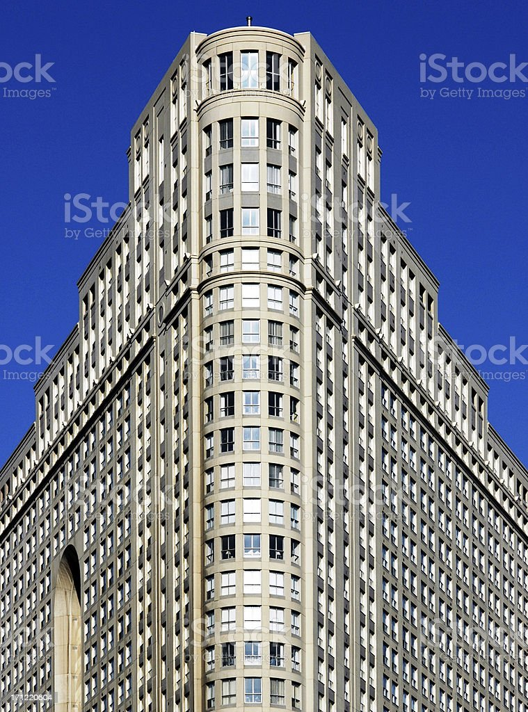 Art-deco flatiron condo royalty-free stock photo