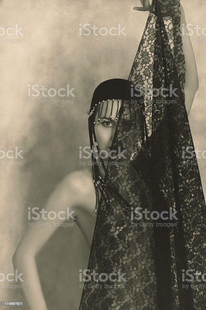 Art-Deco Style.Good Shelter royalty-free stock photo
