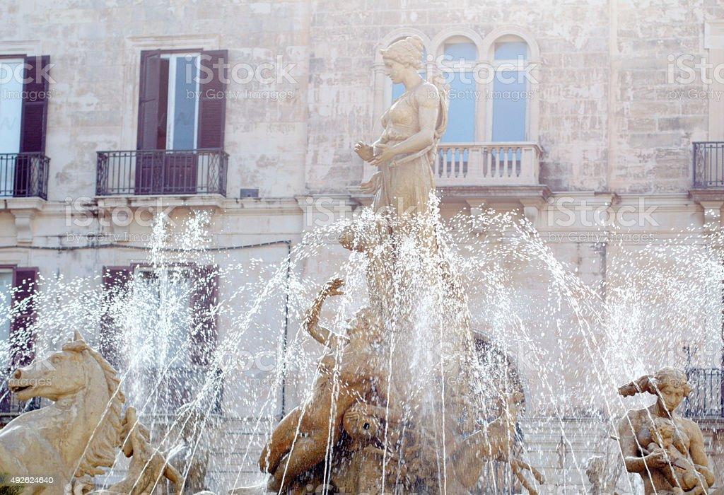 Artemide fountain. Syracuse stock photo