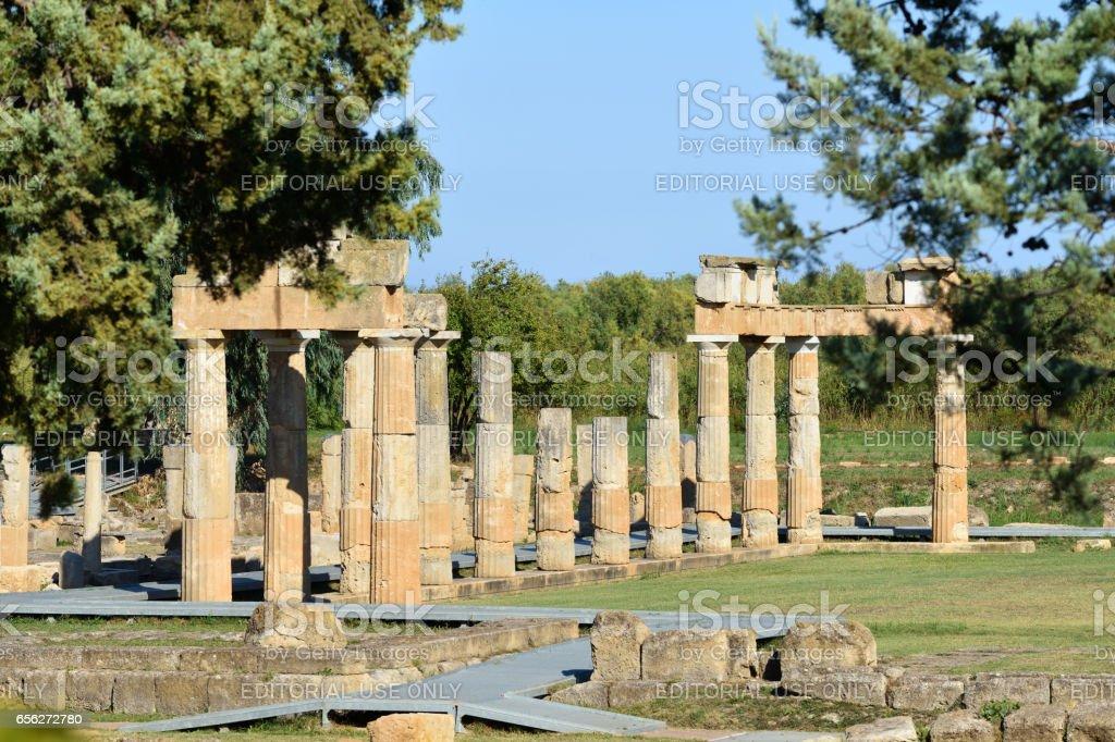 Artemis of Vravrona temple, Greece stock photo