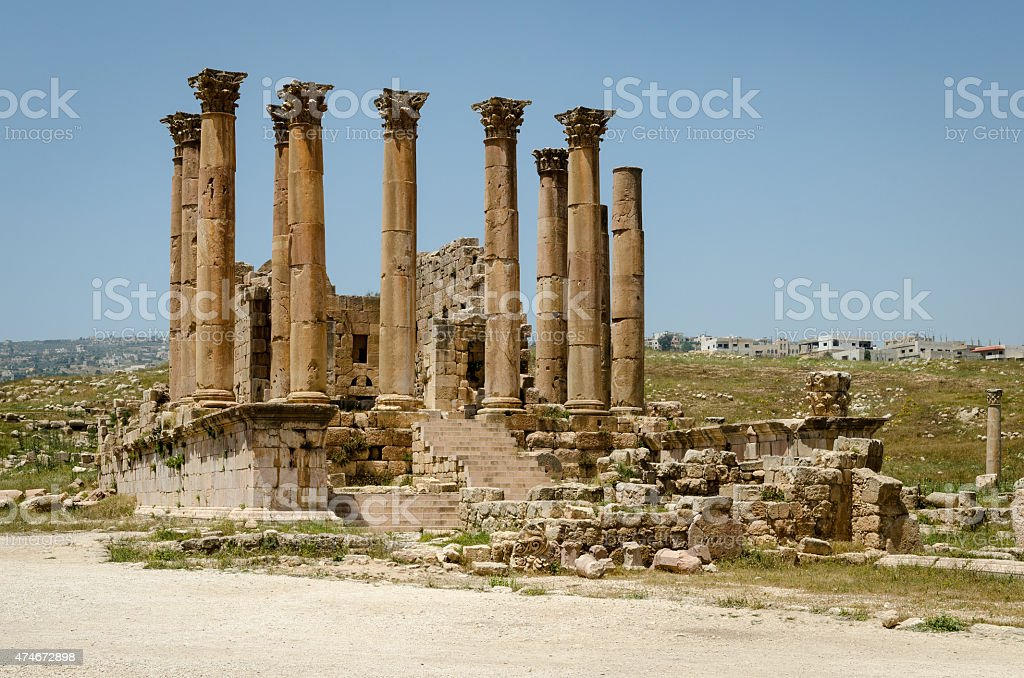 Artemis Temple at Jerash stock photo