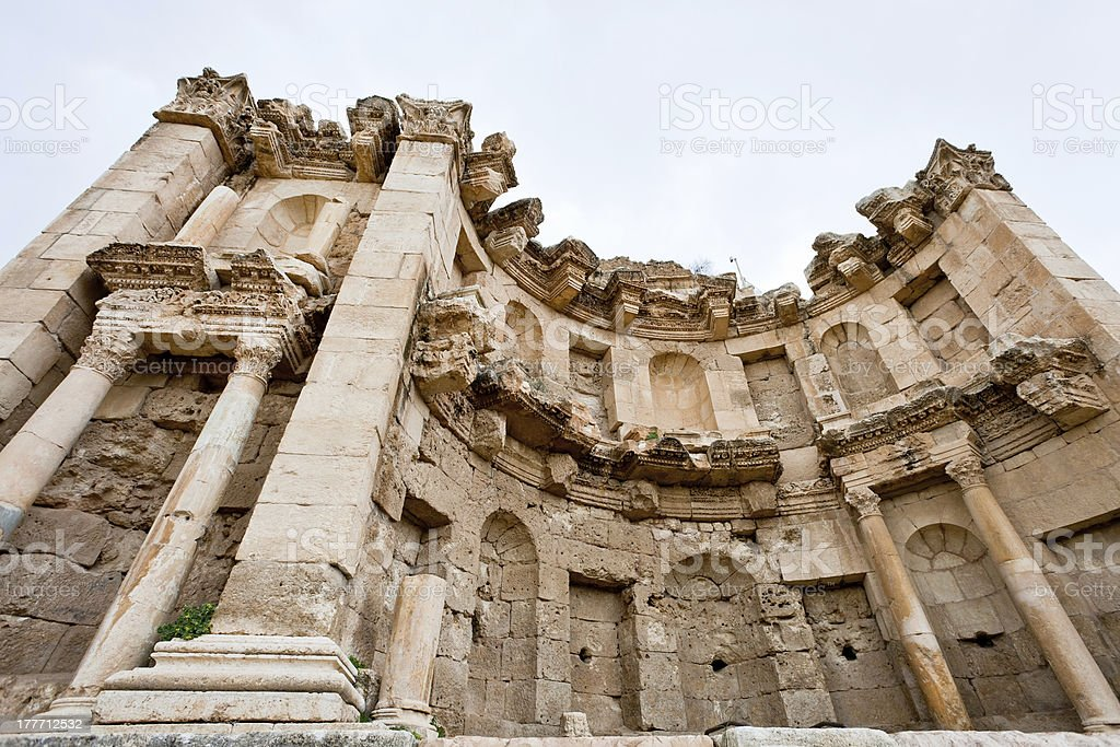Artemis temple in ancient town Jerash stock photo