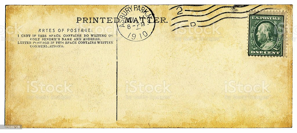 Artes of Postage royalty-free stock photo
