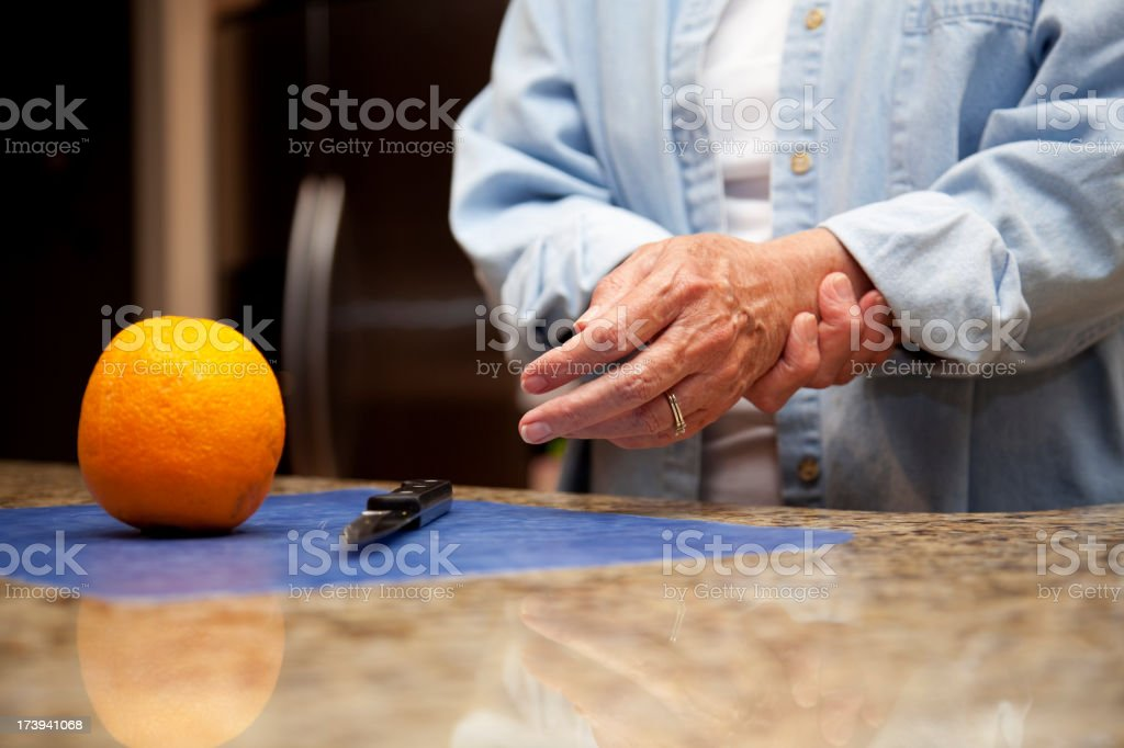 arthritis pain in hands royalty-free stock photo
