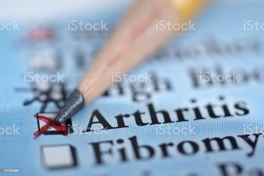 arthritis-medical chart royalty-free stock photo