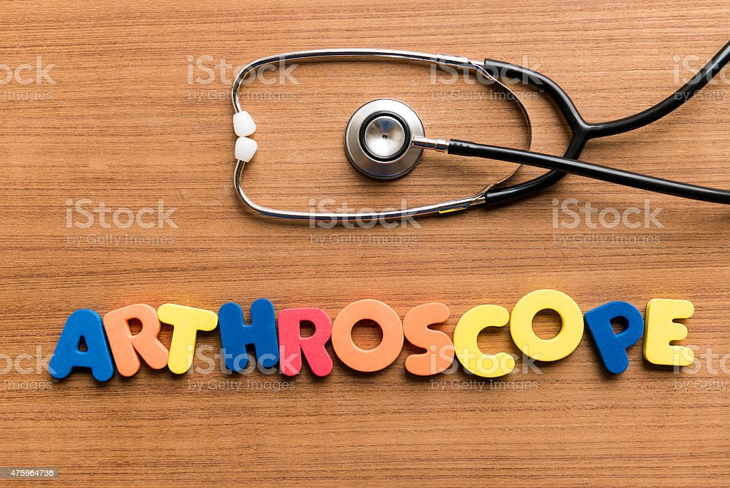 Arthroscope stock photo
