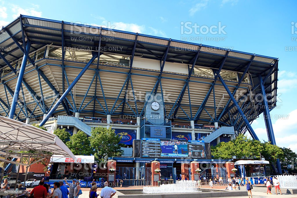 Arthur Ashe Stadium stock photo