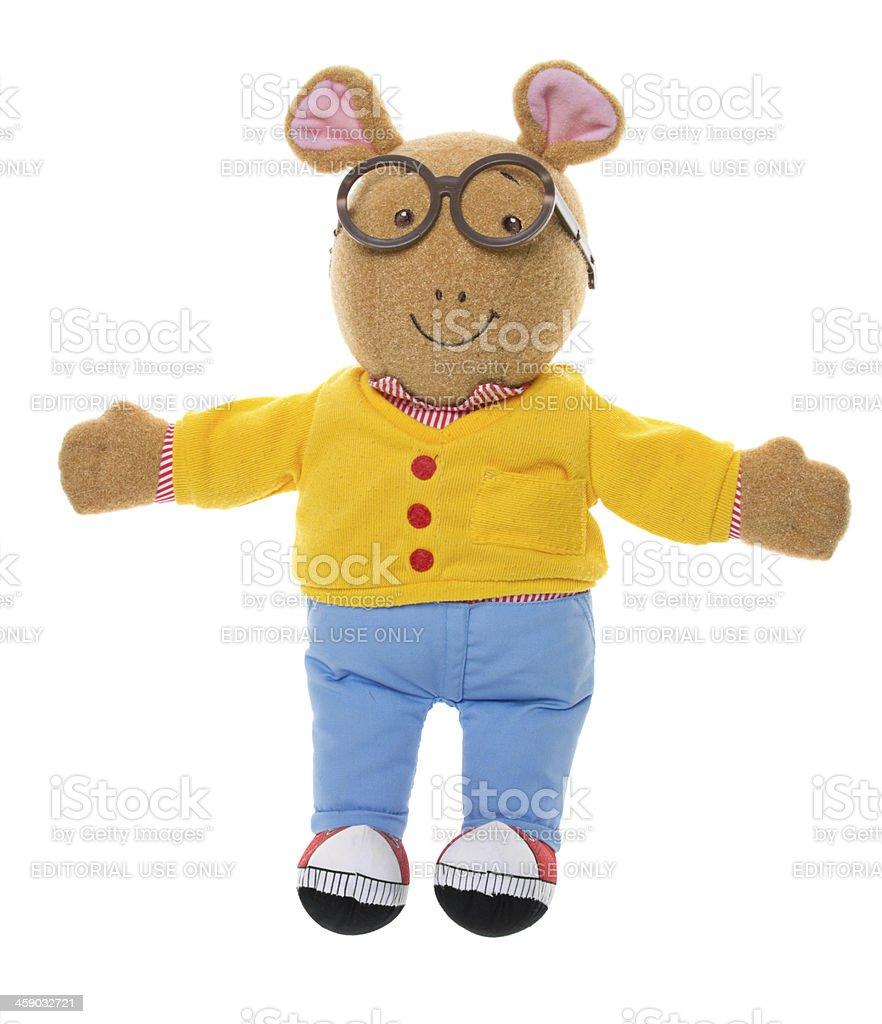 Arthur Plush Animal Toy stock photo