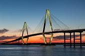 Arthur Ravenel Bridge, Charleston at Twilight