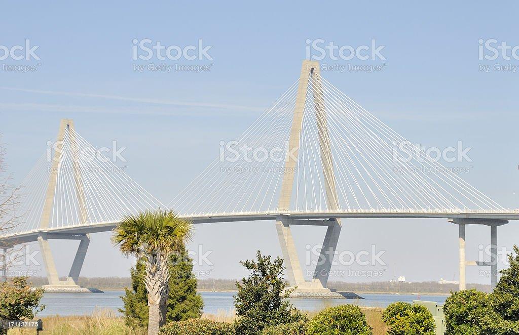Arthur Ravenel Bridge, Charleston, South Carolina stock photo
