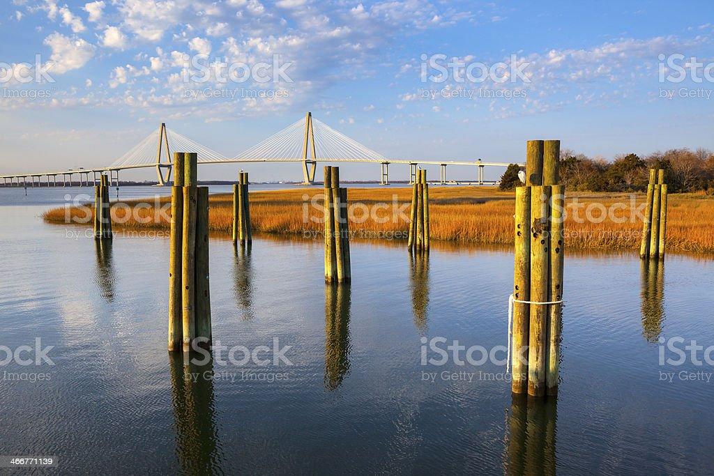 Arthur Ravenel Jr. Bridge Charleston stock photo