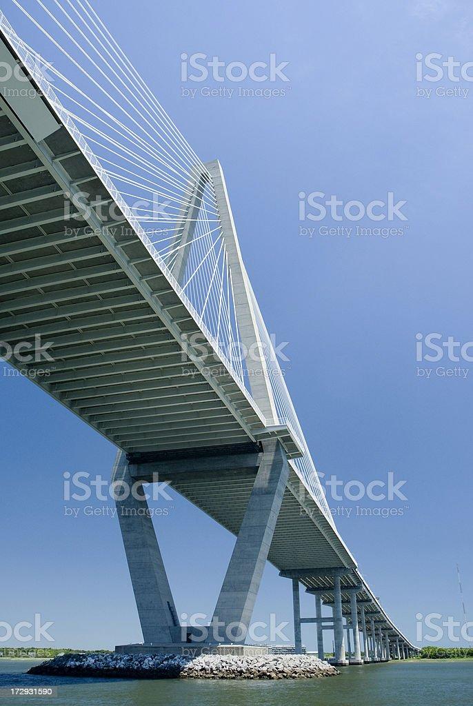 Arthur Ravenel Jr Bridge over Cooper River, Charleston SC stock photo