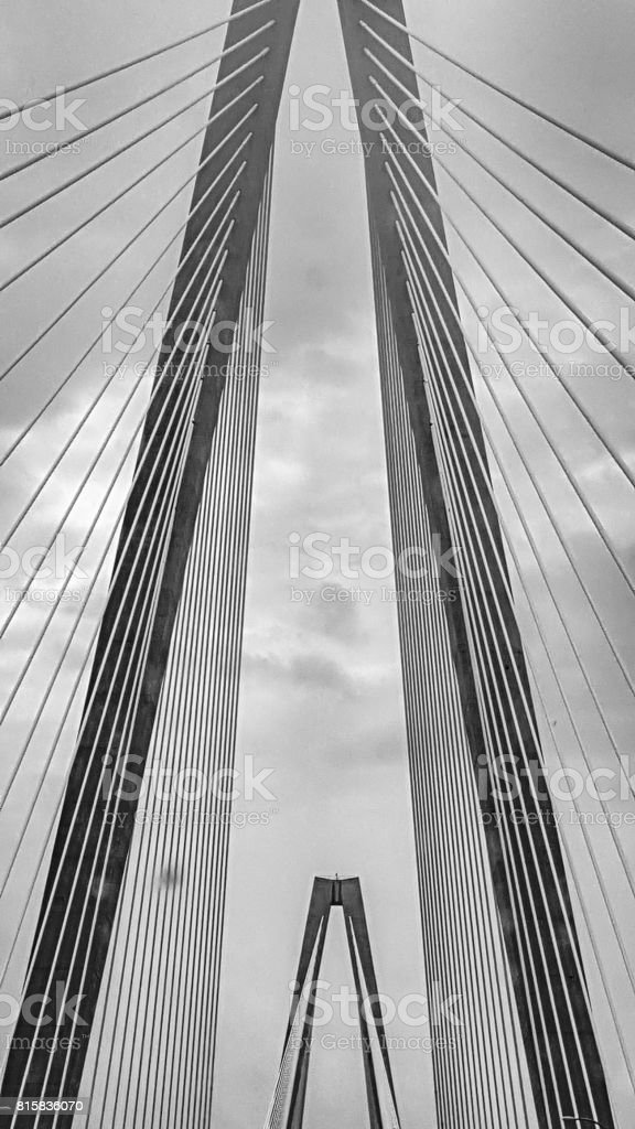 Arthur Ravenel Jr Cooper River Suspension Bridge Charleston SC stock photo