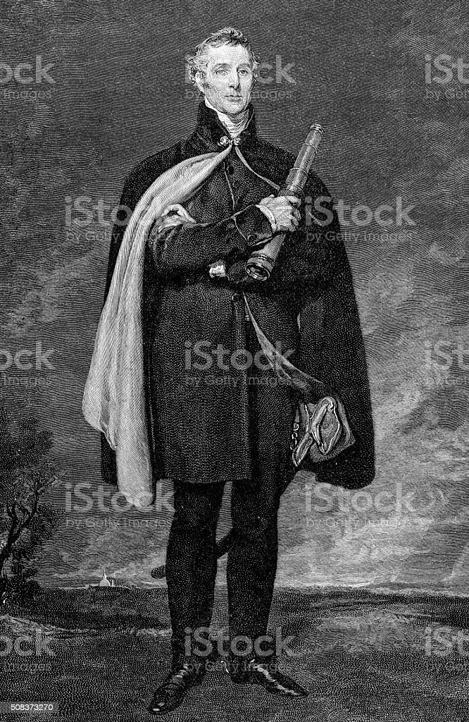 Arthur Wellesly, The 1st Duke Of Wellington stock photo