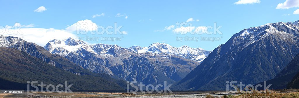 Arthur's pass National Park New Zealand stock photo