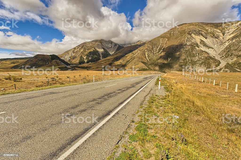 Arthur's Pass, New Zealand stock photo