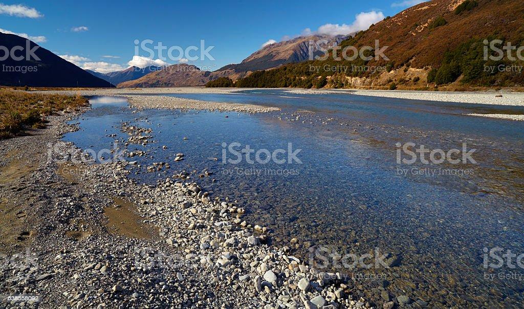 Arthur's Pass On New Zealand's South Island stock photo