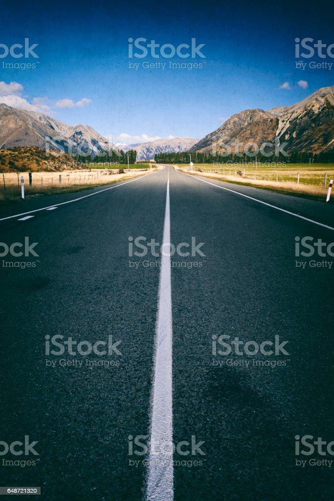 Arthur's Pass Road, New Zealand stock photo