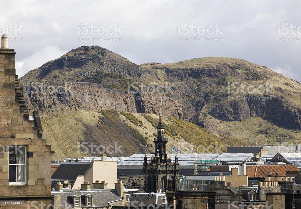 Arthur's seat, Edinburgh. stock photo