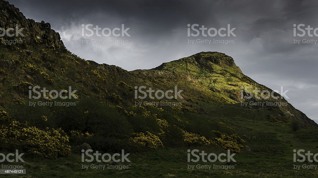 Arthur's Seat in Holyrood Park, Edinburgh stock photo