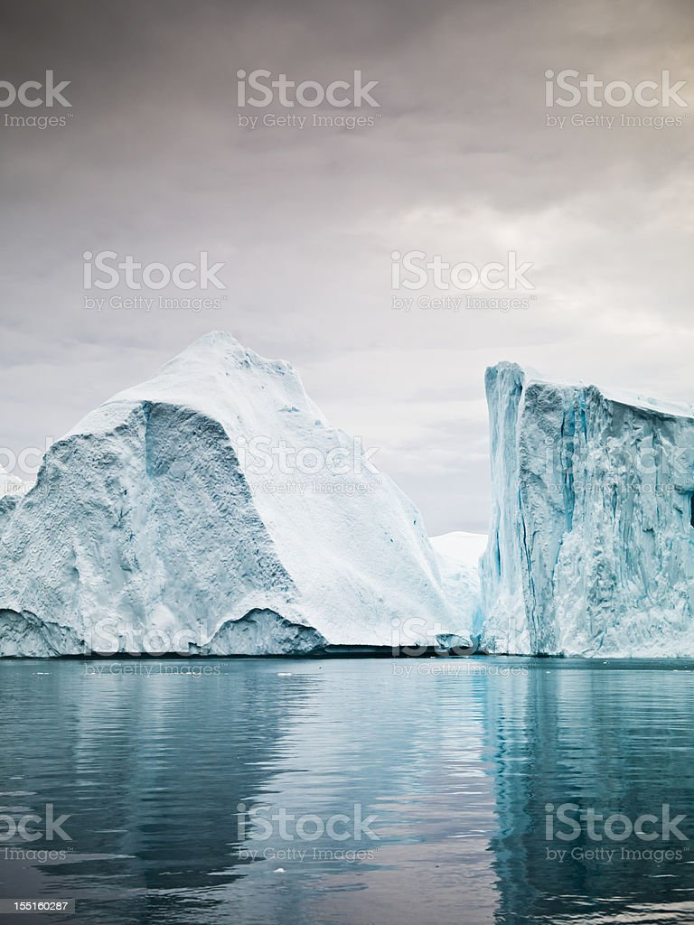 Artic North Pole Icebergs Ilulissat Greenland Fjord royalty-free stock photo