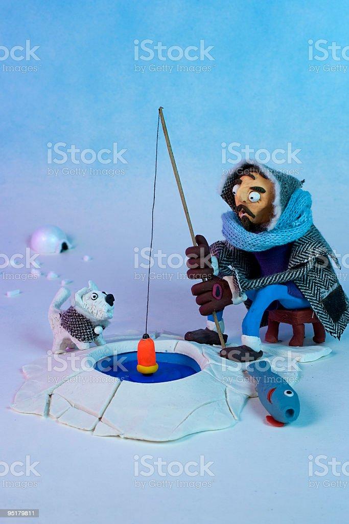 Artic scene stock photo