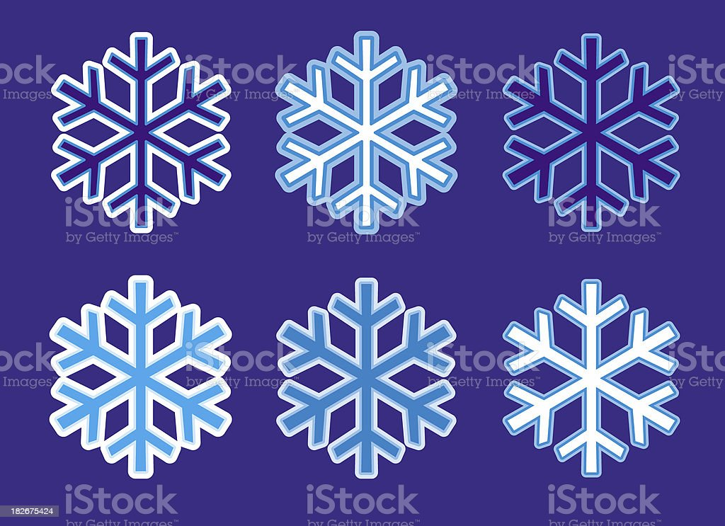 Artic Snowflakes - it's Christmas time! royalty-free stock photo