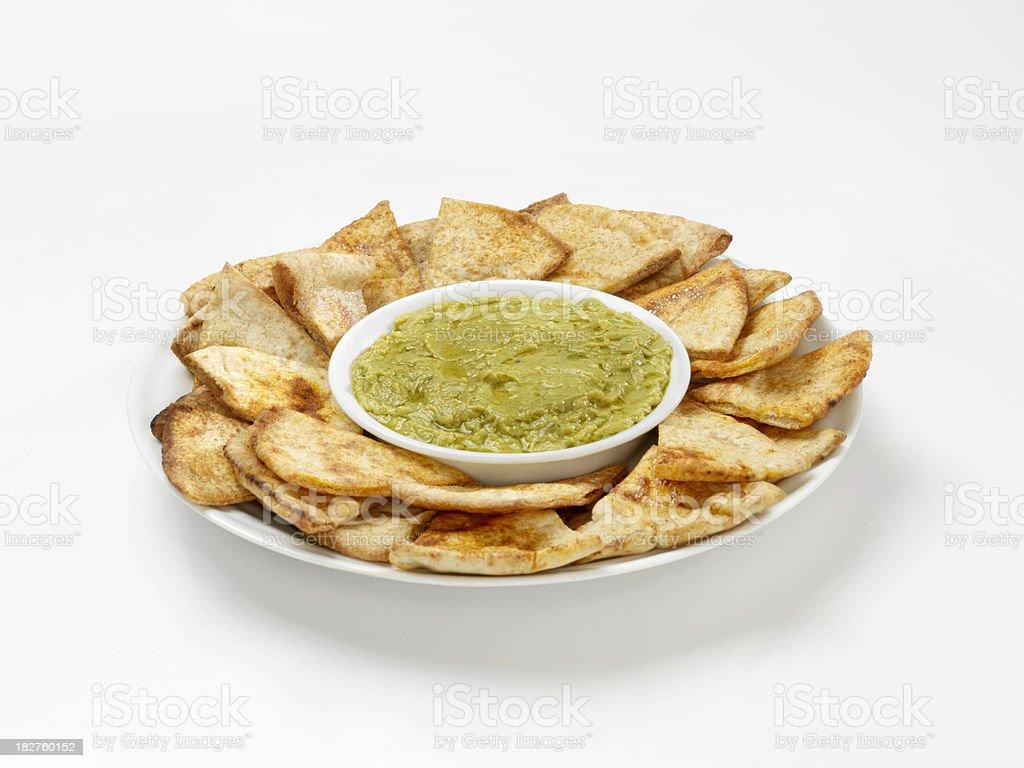 Artichoke and Chickpea Hummus stock photo