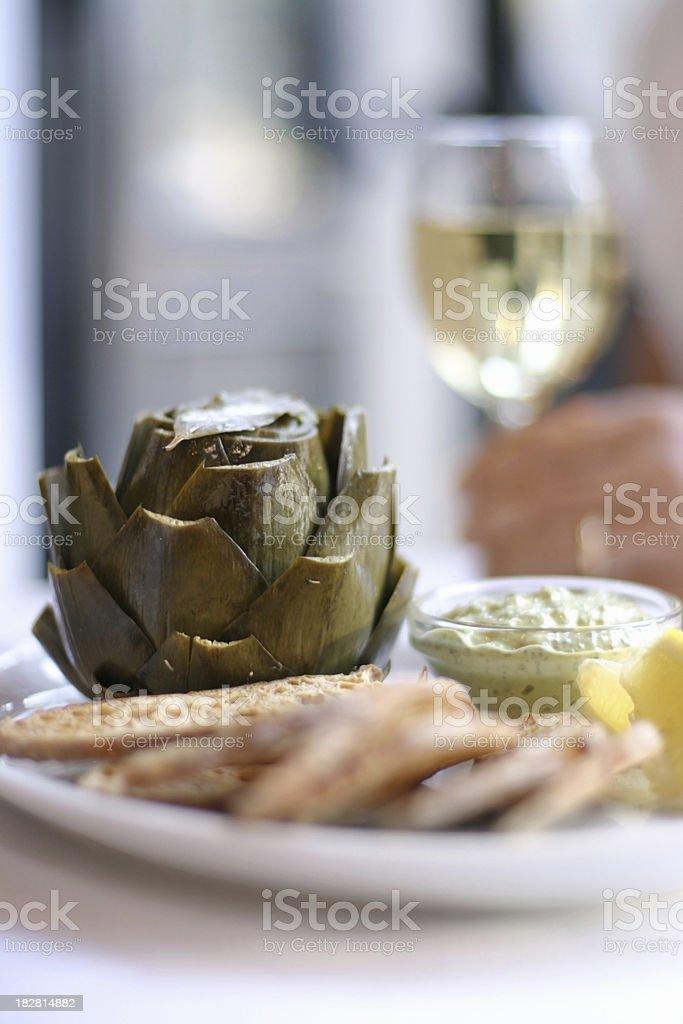 Artichoke appetizer stock photo