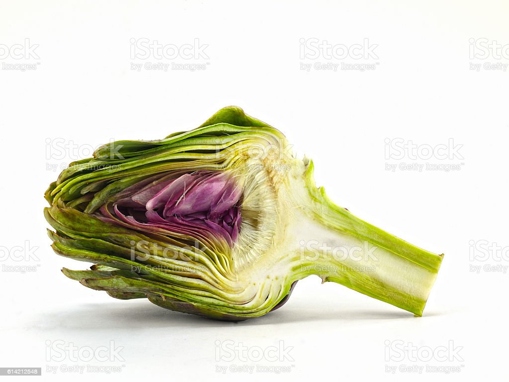 artichoke on white background stock photo