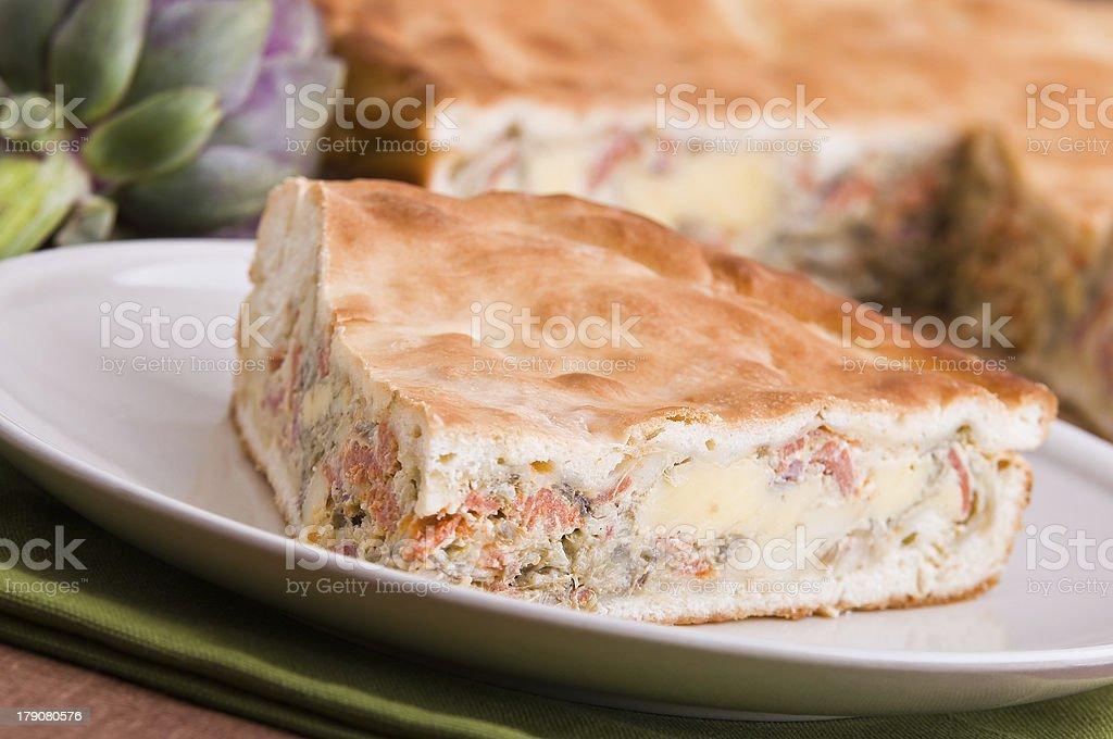 Artichoke Pie. royalty-free stock photo