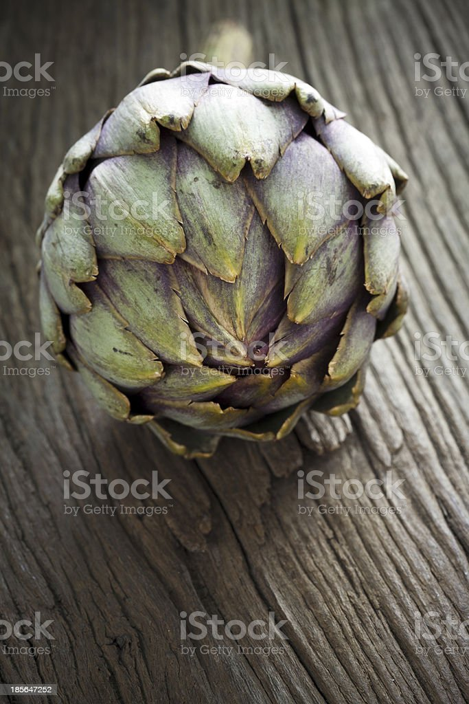 Artichoke with Stem royalty-free stock photo