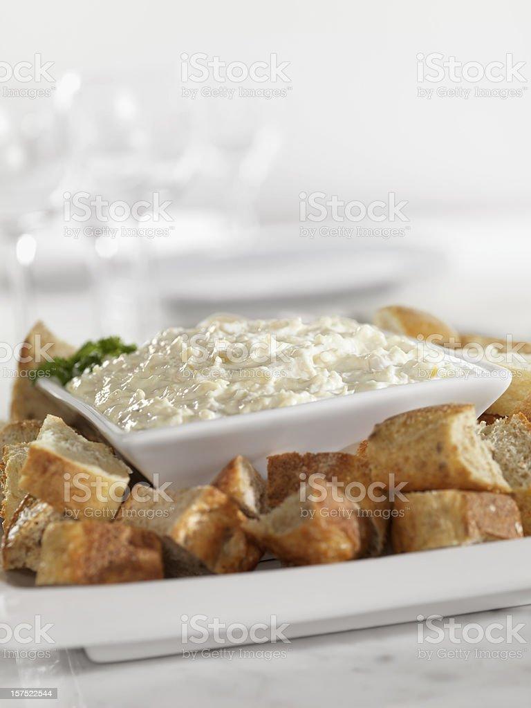Artichokeand Asiago Cheese Dip royalty-free stock photo