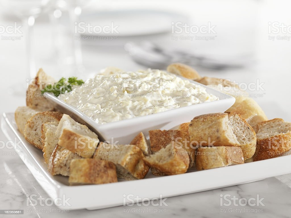 Artichoke and Asiago Cheese Dip royalty-free stock photo