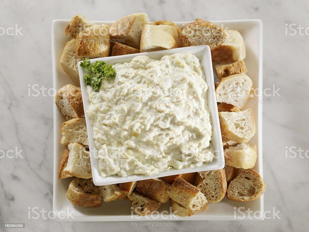 Artichokeand Asiago Cheese Dip stock photo