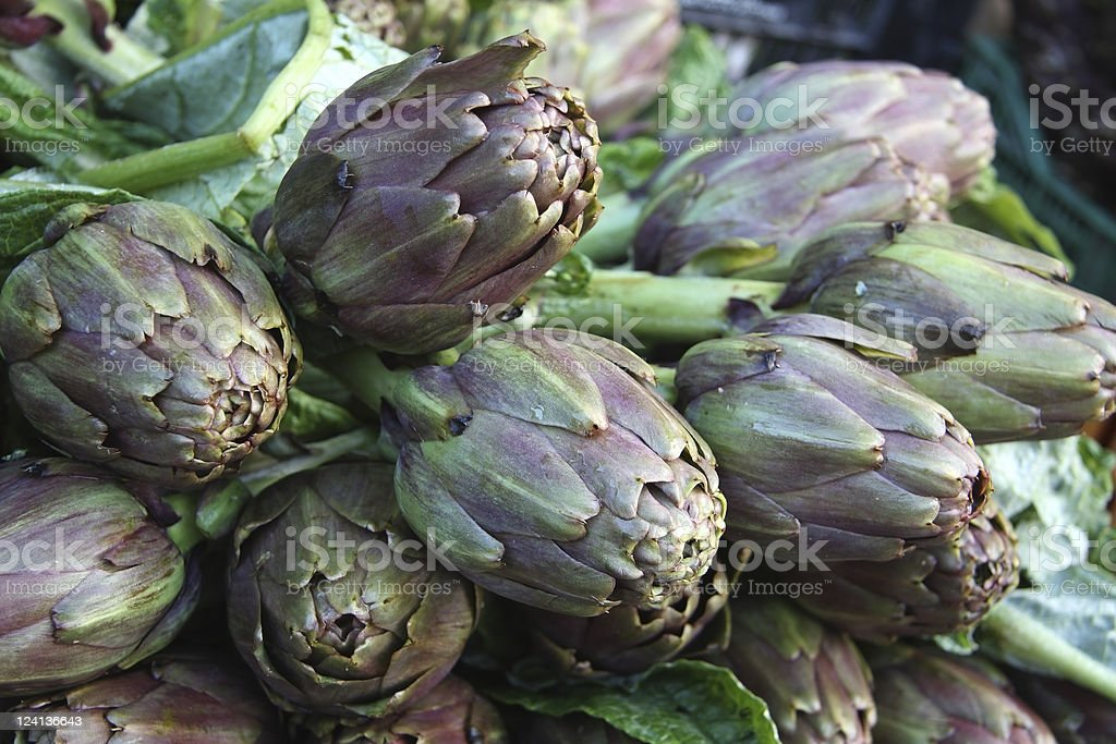 Artichokes at Farmer's Market stock photo