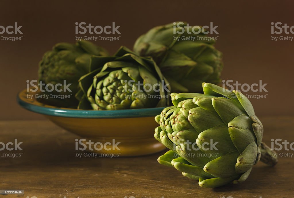 Artichokes Still Life Hz royalty-free stock photo