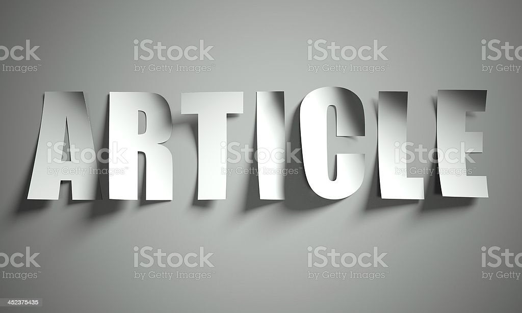Article cut from paper on background royalty-free stock photo