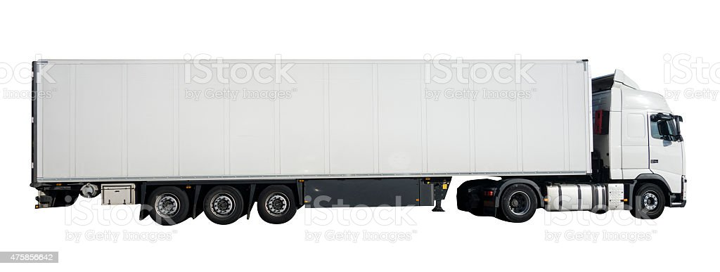 Articulated lorry. stock photo