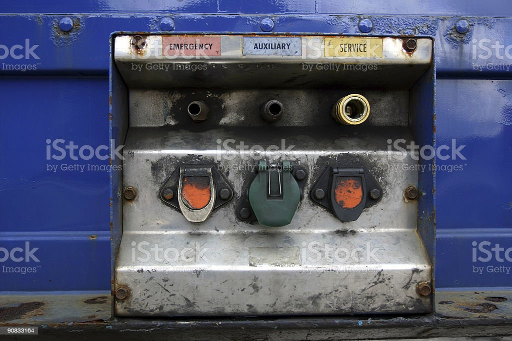 articulated truck and trailers royalty-free stock photo