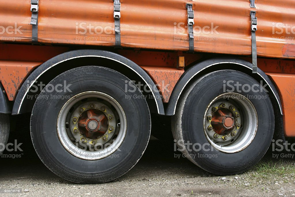 articulated truck lorry wheels stock photo