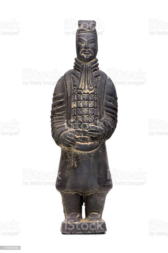 Artifact : Isolated China Terracotta Army Soldier stock photo