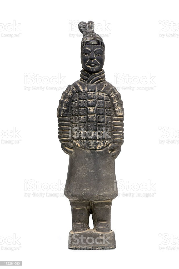 Artifact : Isolated China Terracotta Army Soldier royalty-free stock photo