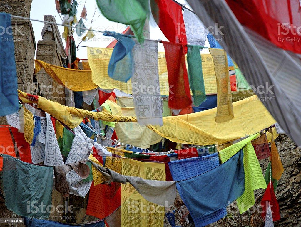 Artifact : Tibet Prayer Flags royalty-free stock photo