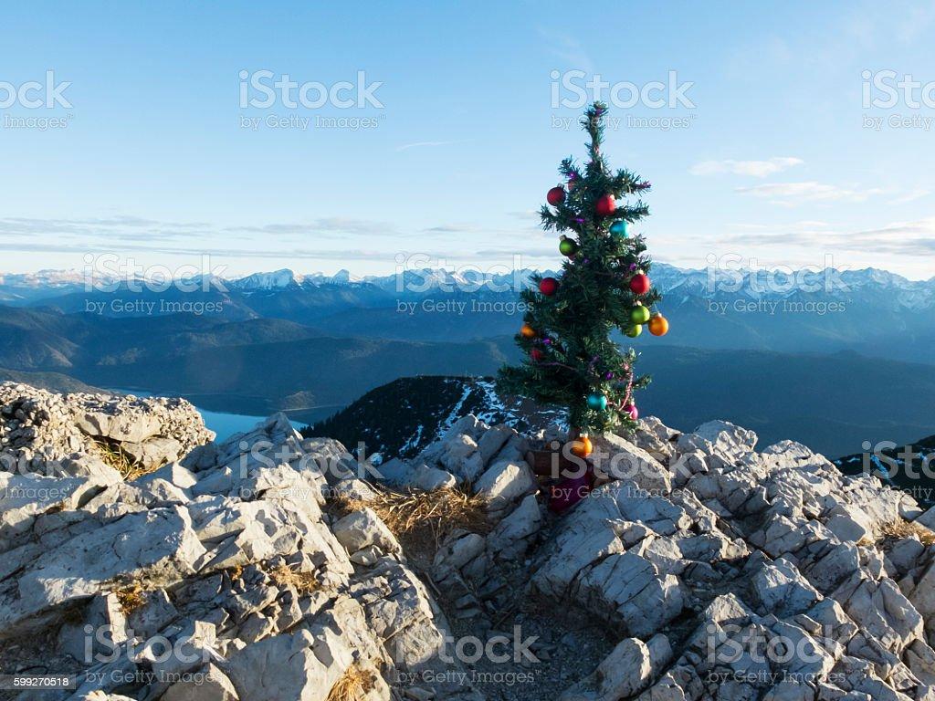 artifical christmas tree stock photo
