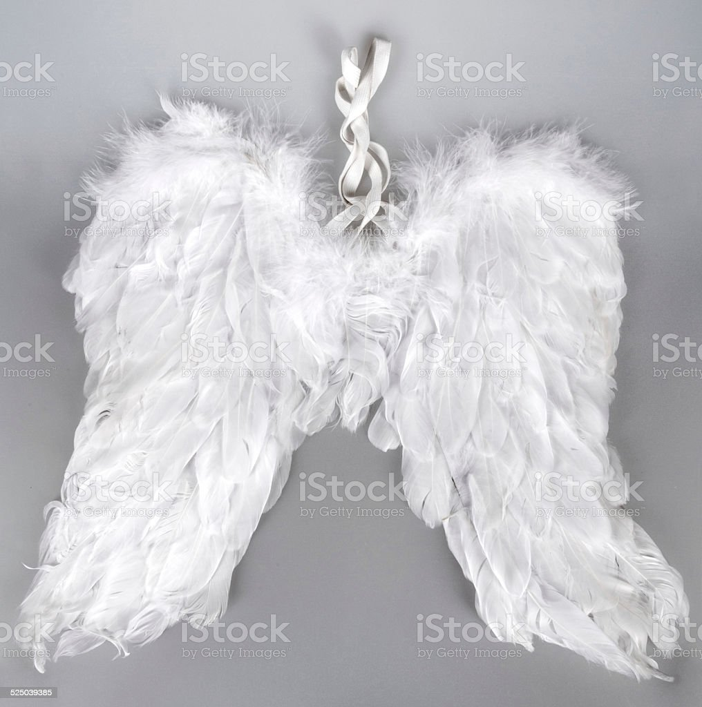 Artificial angel wings stock photo