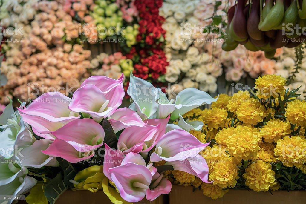 Artificial Anthurium stock photo