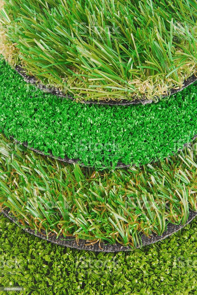 artificial astroturf grass  samples stock photo